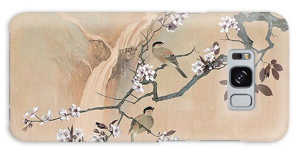 Cherry Blossom Tree And Two Birds Galaxy Case