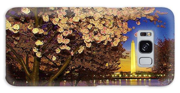Cherry Blossom Washington Monument Galaxy Case