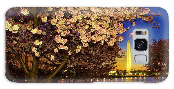 Cherry Blossom Washington Monument Galaxy Case