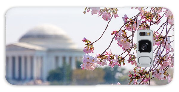 Cherry Blossoms And Jefferson Memorial Galaxy Case