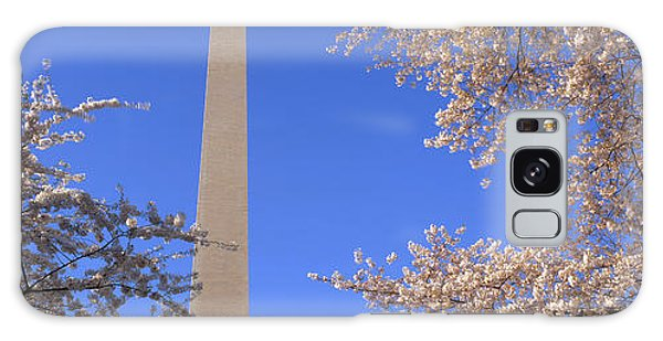Cherry Blossoms And Washington Galaxy Case by Panoramic Images