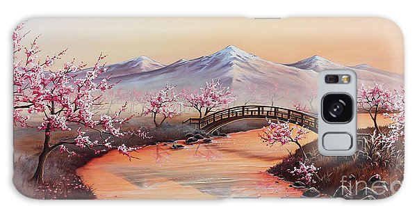 Cherry Blossoms In The Mist - Revisited Galaxy Case