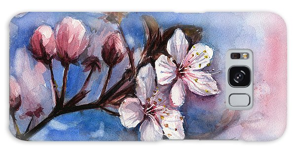Blossoms Galaxy Case - Cherry Blossoms  by Olga Shvartsur