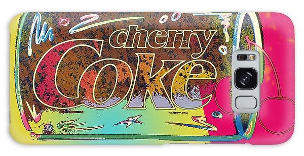 Cherry Coke 1 Galaxy Case by John Keaton