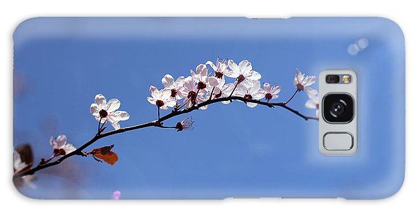 Cherry Flowers With Lens Flare Galaxy Case