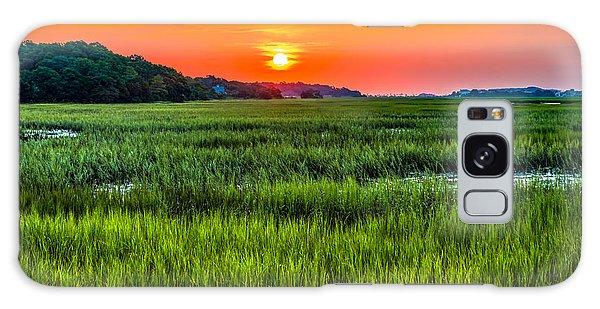Cherry Grove Marsh Sunrise Galaxy Case