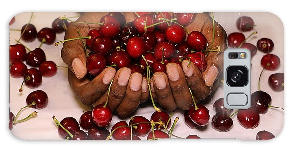 Cherry In The Hands Galaxy Case by Paul SEQUENCE Ferguson             sequence dot net