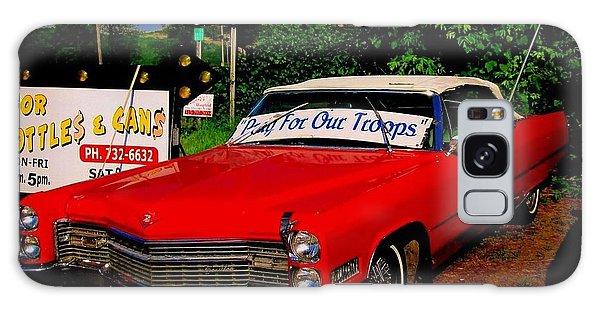 Cherry Red American Patriot 1966 Cadillac Coupe De Ville Galaxy Case by Peter Gumaer Ogden