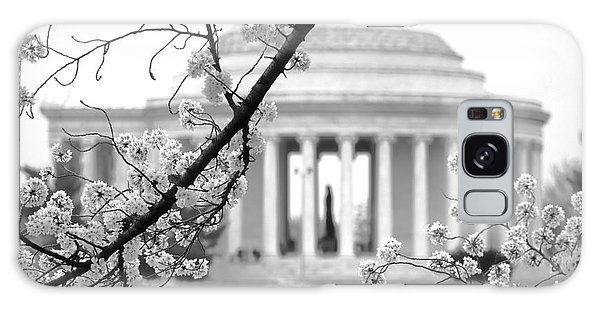 Cherry Tree And Jefferson Memorial Elegance  Galaxy Case