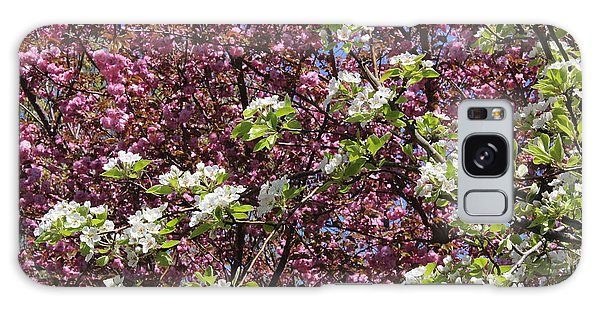 Cherry Tree And Pear Blossoms Galaxy Case