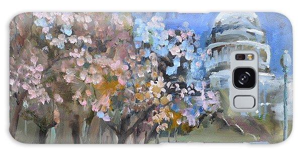 Cherry Tree Blossoms In Washington Dc Galaxy Case