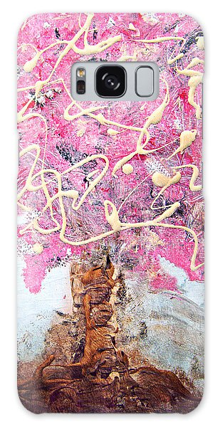 Cherry Tree By Colleen Ranney Galaxy Case
