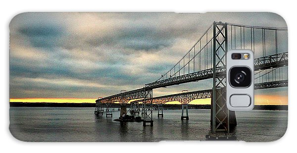 Chesapeake Bay Bridge At Twilight Galaxy Case