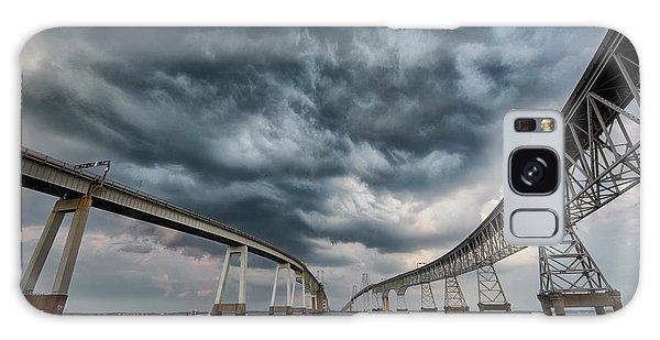 Chesapeake Bay Bridge Storm Galaxy Case