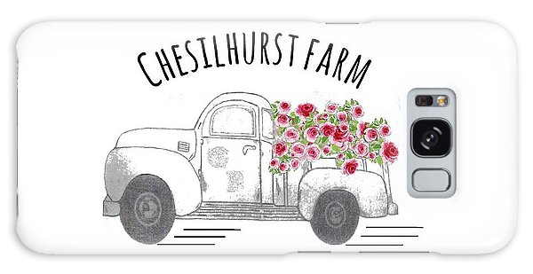 Galaxy Case featuring the drawing Chesilhurst Farm by Kim Kent