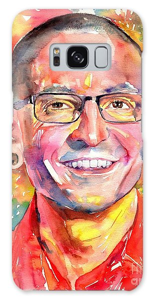 Rolling Stone Magazine Galaxy Case - Chester Bennington Watercolor by Suzann's Art