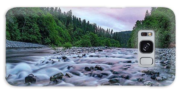 Chetco River Sunset 2 Galaxy Case by Leland D Howard