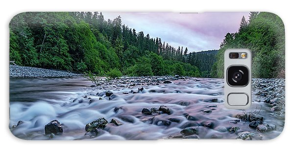 Chetco River Sunset 2 Galaxy Case by Leland D Howard