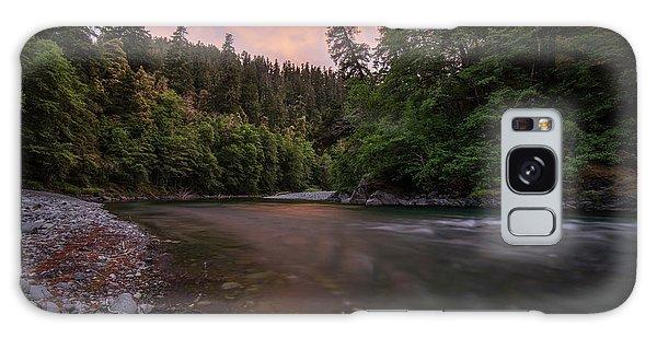 Chetco River Sunset Galaxy Case by Leland D Howard