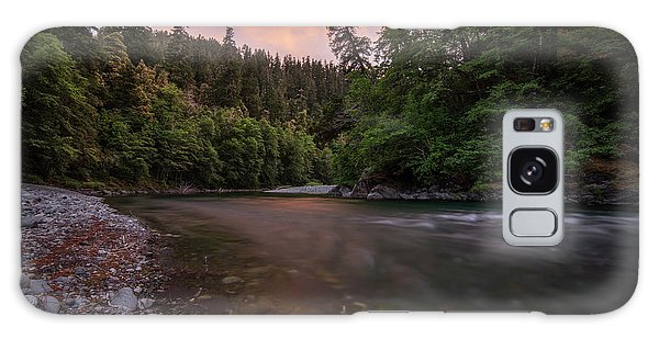 Chetco River Sunset Galaxy Case by Leland D Howard