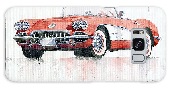 Car Galaxy S8 Case - Chevrolet Corvette C1 1960  by Yuriy Shevchuk