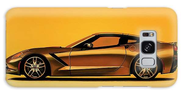 Motor Galaxy Case - Chevrolet Corvette Stingray 2013 Painting by Paul Meijering