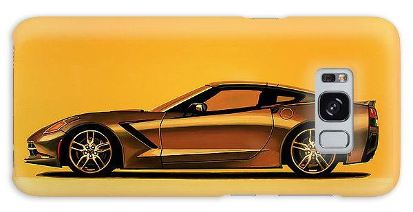Coupe Galaxy Case - Chevrolet Corvette Stingray 2013 Painting by Paul Meijering