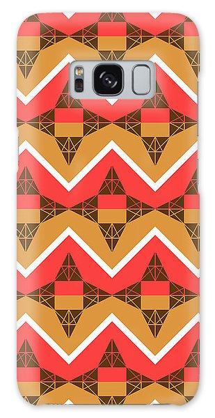 Fall Galaxy Case - Chevron And Triangles by Gaspar Avila