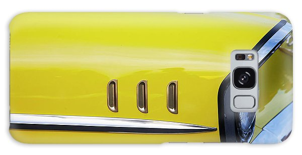 Chevy Bel Air Abstract In Yellow Galaxy Case by Toni Hopper