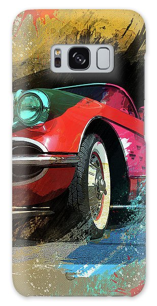 Chevy Corvette Digital Art Galaxy Case by Ron Grafe