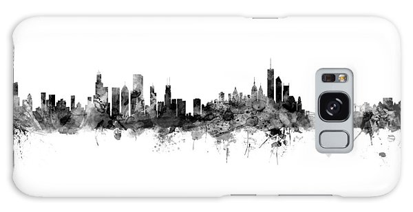 Chicago Skyline Galaxy Case - Chicago And New York City Skylines Mashup by Michael Tompsett