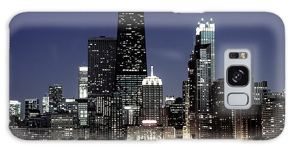 Chicago At Night High Resolution Galaxy Case