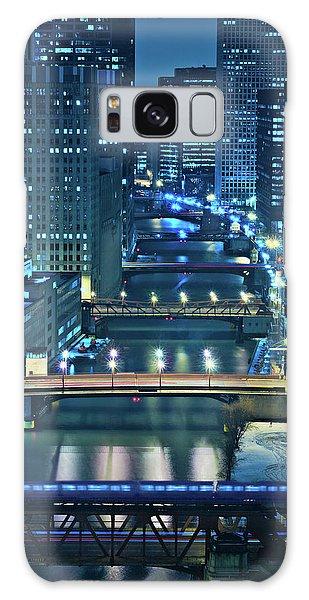 Chicago Bridges Galaxy Case by Steve Gadomski