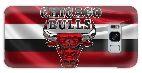 Chicago Bulls - 3 D Badge Over Flag Galaxy Case