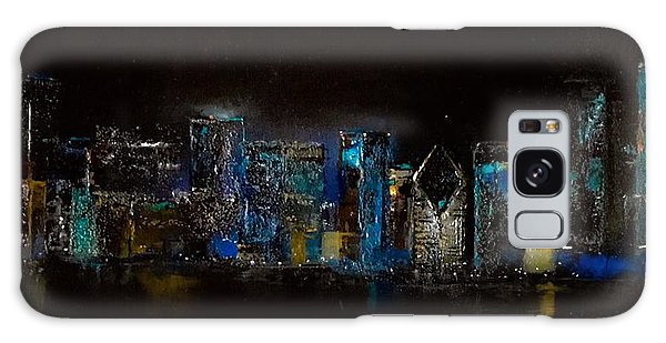 Chicago City Scene Galaxy Case by Michele Carter