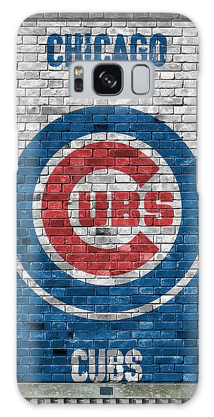 Galaxy Galaxy Case - Chicago Cubs Brick Wall by Joe Hamilton