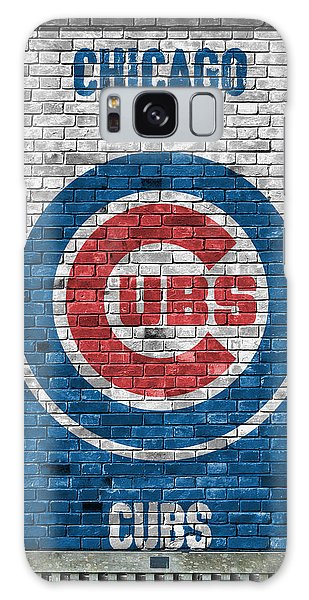City Scenes Galaxy S8 Case - Chicago Cubs Brick Wall by Joe Hamilton