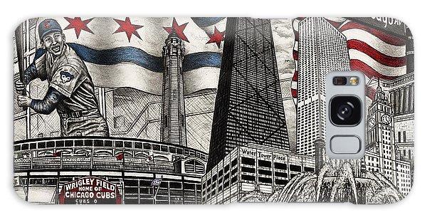 Chicago Cubs, Ernie Banks, Wrigley Field Galaxy Case