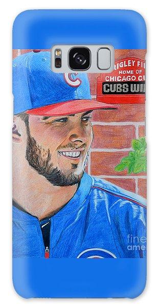 Chicago Cubs Kris Bryant Portrait Galaxy Case by Melissa Goodrich