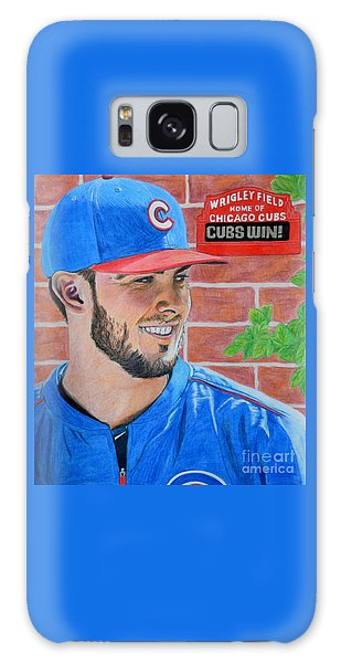 Chicago Cubs Kris Bryant Portrait Galaxy Case