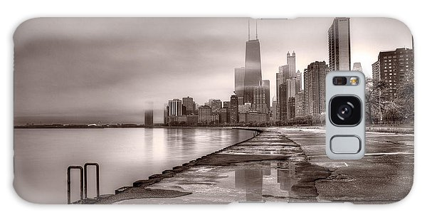 Chicago Foggy Lakefront Bw Galaxy S8 Case