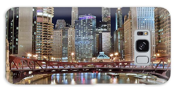 Chicago Full City View Galaxy Case by Frozen in Time Fine Art Photography
