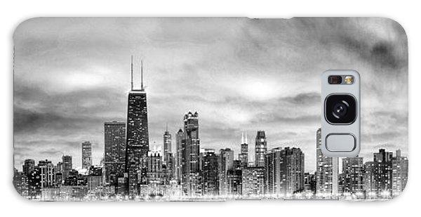 Chicago Gotham City Skyline Black And White Panorama Galaxy Case