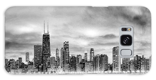 Chicago Gotham City Skyline Black And White Panorama Galaxy Case