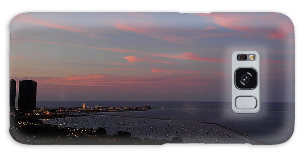 Chicago Lakefront At Sunset Galaxy Case