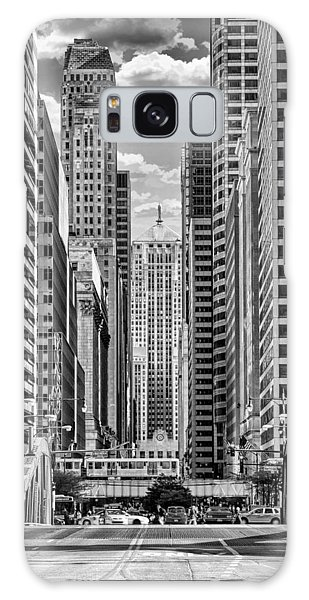 Chicago Lasalle Street Black And White Galaxy Case