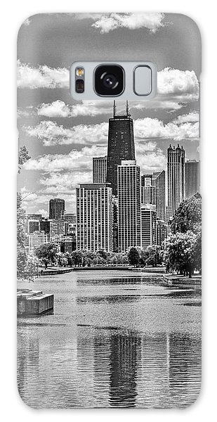 Chicago Lincoln Park Lagoon Black And White Galaxy Case