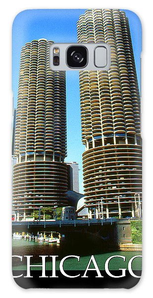 Chicago Marina City - Poster Art Galaxy Case by Art America Gallery Peter Potter