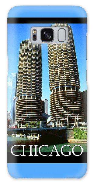 Chicago Poster - Marina City Galaxy Case