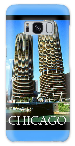 Chicago Poster - Marina City Galaxy Case